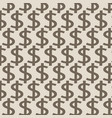 dollar pattern background vector image