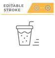 drink line icon vector image vector image