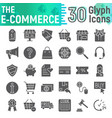 e-commerce glyph icon set shopping symbols vector image vector image
