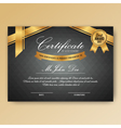 elegant certificate achievement with ornaments vector image