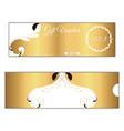 elegant discount gift voucher of gold color leafy vector image vector image