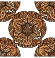 Ethnic decorative handmade brown seamless pattern vector image