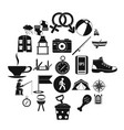 father icons set simple style vector image vector image