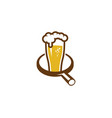 find beer logo icon design vector image
