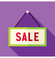 Flat Design Shopping Sale Sign Icon vector image