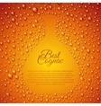 Flowing down drops of cognac in wineglass vector image vector image