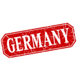 Germany red square grunge retro style sign vector image vector image
