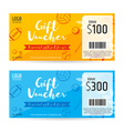 Gift certificate gift voucher gift card template vector image vector image