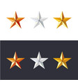 golden silver and bronze stars set game vector image vector image