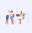 gossip and mobbing in office vector image vector image