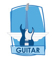 guitar electric vector image vector image
