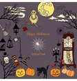 Halloween Holiday Decorations vector image