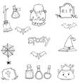 Halloween spooky doodle art vector image vector image