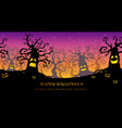 happy halloween seamless haunted forest vector image vector image