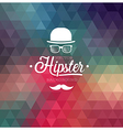 Hipster Background cap vector image vector image