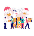 humanitarian aid concept for web banner vector image