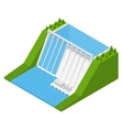 Hydroelectricity Power Station Isometric View vector image vector image