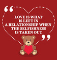 Inspirational love marriage quote Love is what is vector image vector image