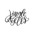 jingle bells hand drawn text calligraphic design vector image vector image