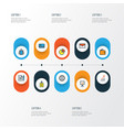 job colorful outline icons set collection of vector image vector image