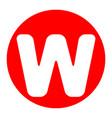 letter w sign design template element vector image vector image
