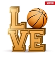Love basketball inscription vector image