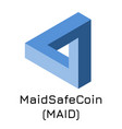 maidsafecoin maid crypto c vector image vector image