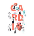 medical cardiology worker wellness heart health vector image
