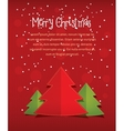 merry christmas card with text red vector image vector image