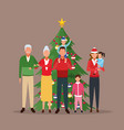 merry christmas in family vector image vector image