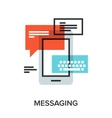 messaging vector image vector image