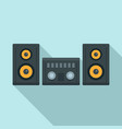 modern stereo system icon flat style vector image vector image