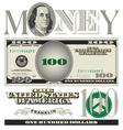 money 100 dollars vector image vector image