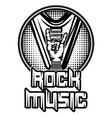 monochrome pattern on theme rock vector image