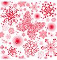monochrome seamless christmas pattern vector image vector image