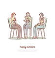 motherhood parenting classes moms with kids vector image vector image