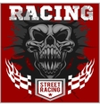 Motor racing demon - emblem for t-shirt vector image vector image