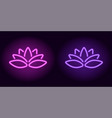 neon purple and violet lotus vector image vector image