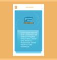 online shopping mobile vertical banner design vector image vector image