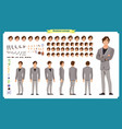 people character business set vector image vector image