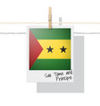 photo of sao tome and principe flag vector image