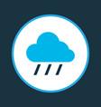 rain icon colored symbol premium quality isolated vector image