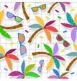 Retro vintage hipster summer 80s pattern backdrop vector image vector image
