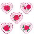 rose valentine frame hearts vector image