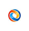 round circle technology ball logo vector image vector image
