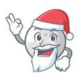 santa golf ball mascot cartoon vector image vector image