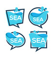 sea time collection water stickers banners vector image vector image