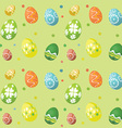 seamless tile easter egg background 2902 vector image
