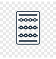 seller concept linear icon isolated on vector image
