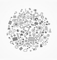 set icons sciences vector image vector image